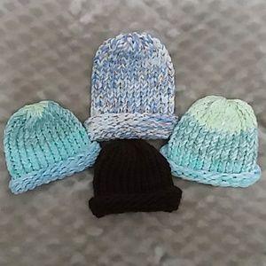 Other - Crochet Newborn Beanie Hats